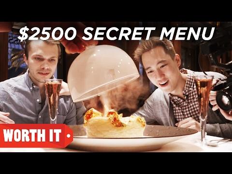 $7 Secret Menu Vs. $2,500 Secret Menu