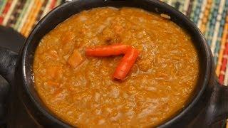 Ethiopian Food - Misir Wot Red Lentil&Carrot Vegan Stew Amharic English - Berbere Injera