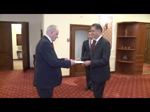 Moldovan president receives accreditation letters from five ambassadors