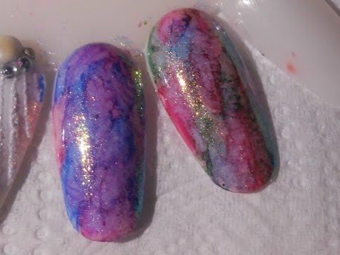 nail art sharpie con effetto sirena