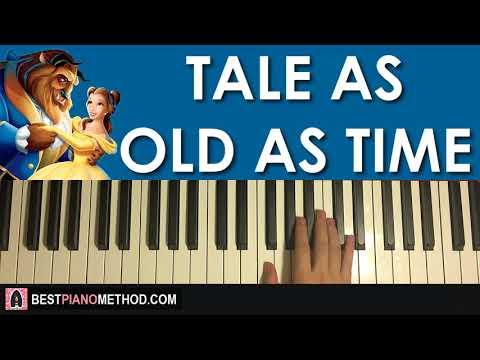 HOW TO PLAY - Beauty And The Beast - Tale As Old As Time (Piano Tutorial Lesson)
