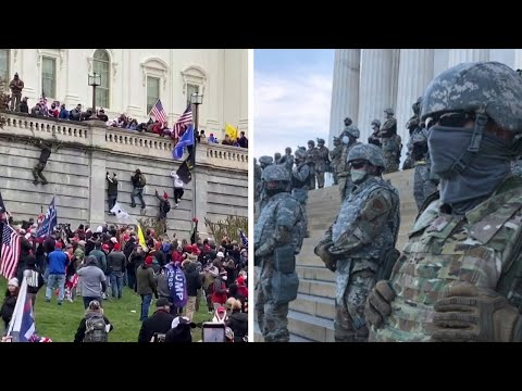 How police responded to Trump mob vs Black Lives Matter protests