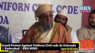Video Moulana Syed Shah Mahmood Safi ullah Waqar Pasha Qadri Speech on Uniform Civil code At Golconda Hyd MP3, 3GP, MP4, WEBM, AVI, FLV Agustus 2018