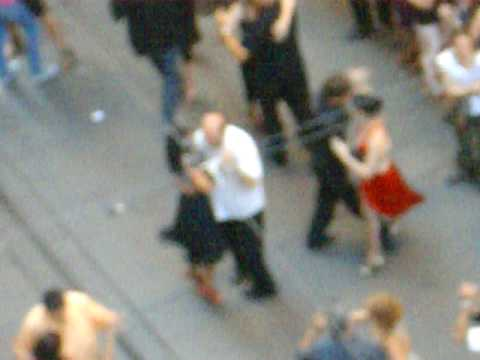 Tango en el centro de Rosario