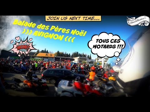 La balade des Pères NOËL & 500 MOTOS - Avignon FFMC84 ◘ Kawasaki ER6N