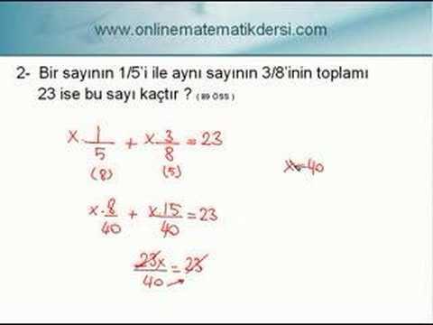 Matematik Sayı Problemleri 1