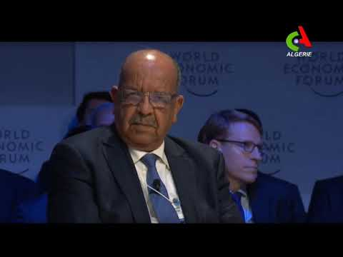 Messahel expose au Forum de Davos la politique de réconciliation nationale