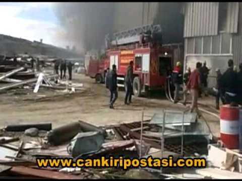 Seramik fabrikasında yangın çıktı!