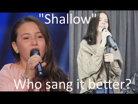 """SHALLOW"" - LADY GAGA -  ROBERTA BATTAGLIA VS DANELIYA TULESHOVA - WHO SANG IT BETTER?"
