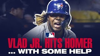 Vlad Jr hits HR…..with some help!