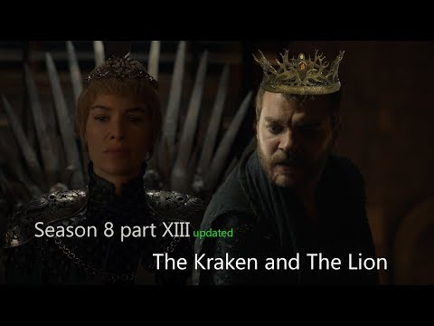 Game of Thrones season 8. The Kraken and the Lion