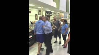 Brawl in the deli aisle