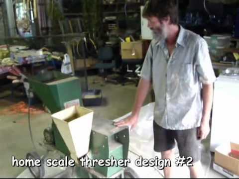 grain thresher designs and winnowing - how to