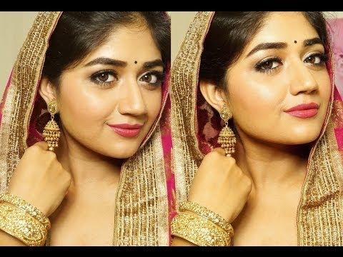 Indian Bridal Makeup : Pink and Gold | corallista