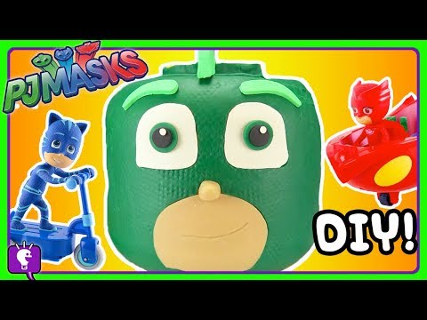 Play doh - PJ Mask GECKO Play-Doh Build by HobbyKidsTV