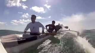 Canoe Surfing in Southampton - New York Outrigger