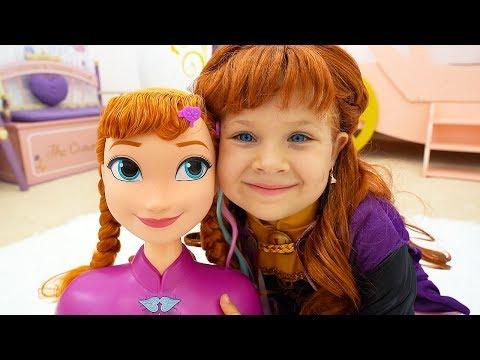 Diana as Princess Elsa and Anna