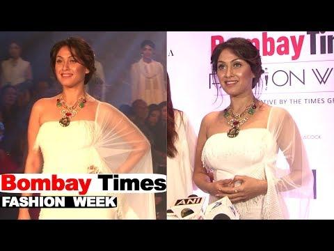 Manjari Phadnis Showstopper For Designer Rina Dhaka & Poonam Soni At Bombay Times Fashion Week 2018