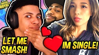 MYTH REACTS TO POKIMANE SAYING SHE'S SINGLE & DAEQUAN BEING A WINGMAN! Fortnite SAVAGE Moments