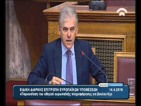 """Παρουσίαση στο Ελληνικό Κοινοβούλιο του """"Οδηγού Ευρωπαϊκής πληροφόρησης για τους Βουλευτές"""" (2/2)"""