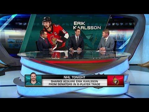 NHL Tonight:  on the Karlsson trade:  Johnson and Parrish analyze the Karlsson trade  Sep 13,  2018