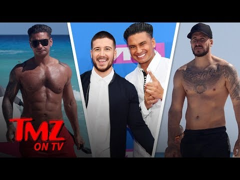 Pauly D and Vinny Shirtless and Ripped On Beach in Mexico | TMZ TV