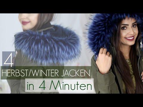 4 HERBST/WINTER JACKEN IN (fast) VIER MINUTEN