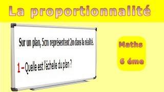 Maths 6ème - La proportionnalité échelle des plans Exercice 1