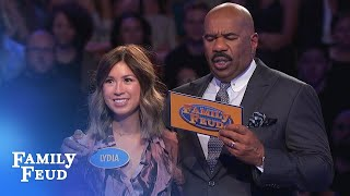 Video 199 points! With ONE ANSWER left! | Family Feud MP3, 3GP, MP4, WEBM, AVI, FLV Desember 2018