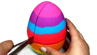Video DIY How to Make Kinetic Sand Giant Egg Learn Colors Kinetic Sand Rainbow Video Compilation for Kids MP3, 3GP, MP4, WEBM, AVI, FLV Juni 2017