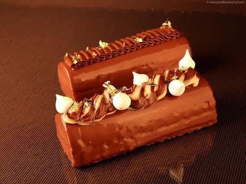 Recette de la bûche de Noël chocolat poires d'Éric Léautey