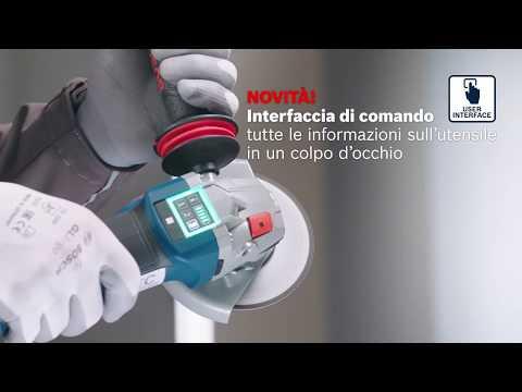 La nuova generazione di smerigliatrici angolari a batteria Bosch da 18 Volt
