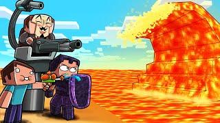 Minecraft - LAVA TSUNAMI BASE CHALLENGE! (Build to Survive)