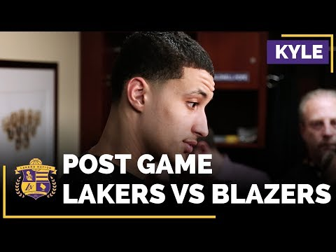 Video: Lakers Rookie Kyle Kuzma Talks What Went Wrong In The Fourth Quarter Against Blazers