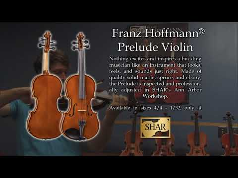 Video - Previously Owned - Slight Wear - Franz Hoffmann® Prelude Violin Outfit - 1/2 size | THV120T12A