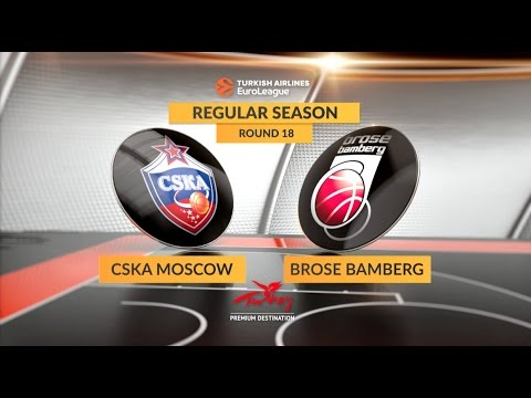 EuroLeague Highlights RS Round 18: CSKA Moscow 84-63 Brose Bamberg