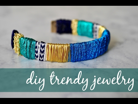 DIY TRENDY JEWELRY (EASY & AFFORDABLE // URBAN + ANTHRO INSPIRED)