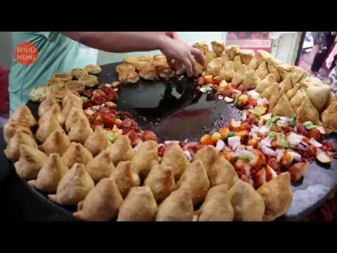 (Samosa Chaat Spicy Chat Masala - Delicious Samosa Chaat - Food Nepal - Duration: 103 seconds.)