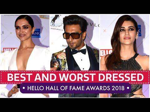Deepika Padukone Kriti Sanon Mira Rajput Hello Hall Of Fame Awards 2018 Pinkvilla Bollywood
