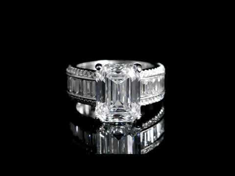 GIA Certified 6.50ct 'E Color' 'VVS 2' Emerald Cut Diamond Ring