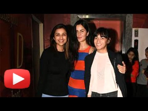 BFFs Katrina Kaif & Parineeti Chopra On A Movie Da