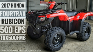 8. 2017 Honda Rubicon EPS 500 4x4 ATV (TRX500FM6H) Walk-Around Video | Red | HondaProKevin.com