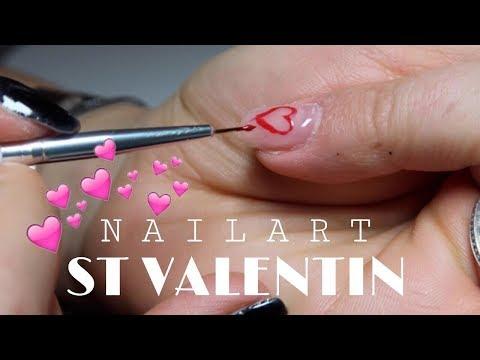 Gel nails - TUTO NAILARTSt Valentin