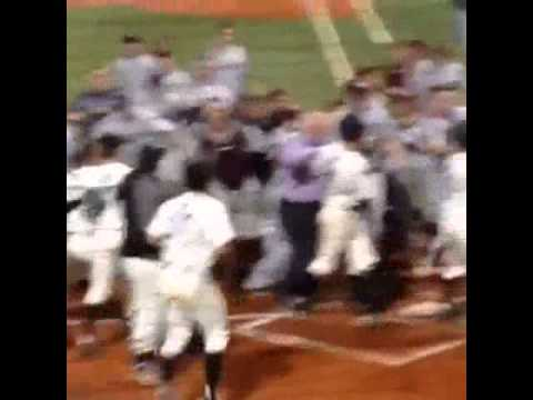 College Baseball fight - short video
