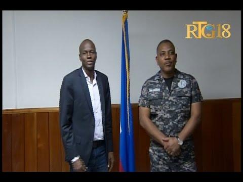 Le Président élu de la République d'Haïti, Jovenel MOISE visite la DGPNH