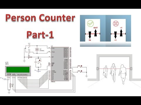 Person Counter 8051 Part-1