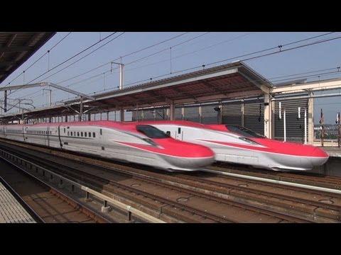 e6 - 本年3月に営業運行を開始し、利用客やレイルファンの注目を集めている秋田新幹線『スーパーこまち』のE6系新幹線電車ですが、徐々に増備が進み、一部の『こまち』や『やまびこ』�...