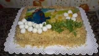 Curso de confeitaria - torta fácil decorar com papel arroz galinha pintadinha