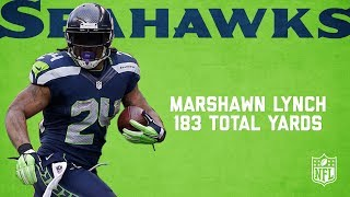 Highlights from former Seattle Seahawks running back Marshawn Lynch's 183-yard (157 rush, 26 receiving) performance vs. the Packers in the 2014 NFC Championship game.Subscribe to NFL: http://j.mp/1L0bVBuStart your free trial of NFL Game Pass: https://www.nfl.com/gamepass?campaign=sp-nf-gd-ot-yt-3000342Sign up for Fantasy Football! http://www.nfl.com/fantasyfootballThe NFL YouTube channel is your home for immediate in-game highlights from your favorite teams and players, full NFL games, behind the scenes access and more!Check out our other channels:NFL Network http://www.youtube.com/nflnetworkNFL Films http://www.youtube.com/nflfilmsFor all things NFL, visit the league's official website at http://www.nfl.com/Watch NFL Now: https://www.nfl.com/nowListen to NFL podcasts: http://www.nfl.com/podcastsWatch the NFL network: http://nflnonline.nfl.com/Download the NFL mobile app: https://www.nfl.com/apps2016 NFL Schedule: http://www.nfl.com/schedulesBuy tickets to watch your favorite team:  http://www.nfl.com/ticketsShop NFL: http://www.nflshop.com/source/bm-nflcom-Header-Shop-TabLike us on Facebook: https://www.facebook.com/NFLFollow us on Twitter: https://twitter.com/NFLFollow us on Instagram: https://instagram.com/nfl/