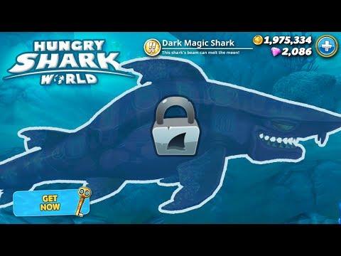 New Dark Magic Shark Unlocked!!! - Hungry Shark World | HD